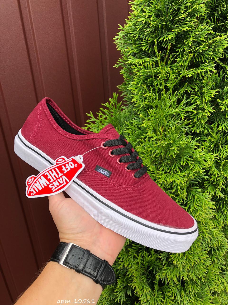Чоловічі кеди Vans (бордовий) B10561 крута якісна взуття
