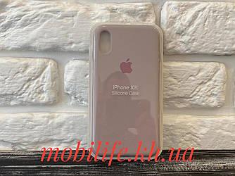 Чехол Silicon Case Original Apple iPhone XR/Бежевый/Высокое Качество/