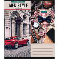 Зошит 24 клітинка Men style 1Вересня (20/320)