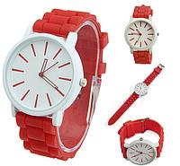 Женские часы GENEVA Женева с белым циферблатом, силиконовый браслет, марки женских часов