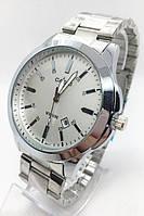 Часы мужские наручные CASIO(Касио), серебро с белым циферблатом ( код: IBW677SO )