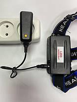 Налобний ліхтар Police 204C (BL-6699) - 28000W , Т6, zoom, аккум., фото 3