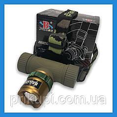 Фонарь на лоб Bailong/Police BL-6866-XPE, zoom, аккумуляторный