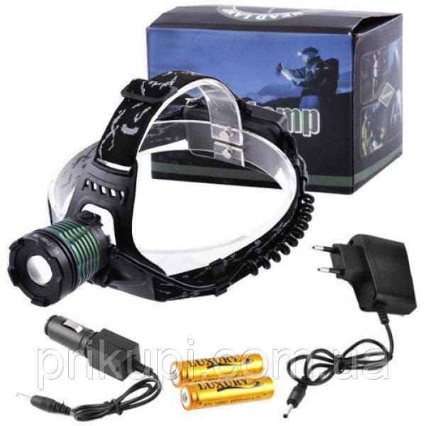 Налобный фонарь Police BL 2188 T6, zoom, аккум.