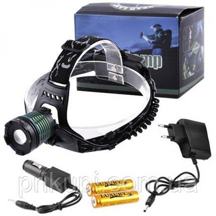 Налобный фонарь Police BL 2188 T6, zoom, аккум., фото 2