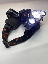 Налобний ліхтар Police / Bailong / Boruit RJ 3000 (6633) - T6 2XPE - 50000W /2 акум./ ЗУ 220-12В, фото 3