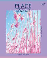 Зошит 24 клітинка PLACE OF THE BEST мат. ламінація + фольга синя + УФ-віб. МІКС Yes
