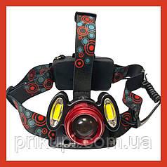 Налобный фонарь Bailong | Police BL 2117 T6   2COB - 50000W /2 аккум./ ЗУ 220-12В