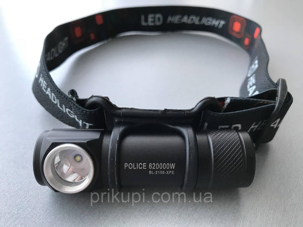 Фонарик с магнитом Police BL-2155-XPE USB зарядка, аккум