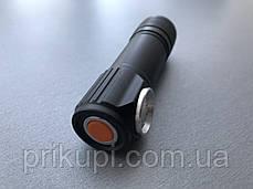Фонарик с магнитом Police BL-2155-XPE USB зарядка, аккум, фото 2