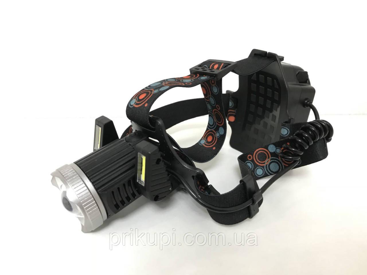 Налобний ліхтар з акумулятором або на батарейках 3*АА Police JR-6000-T6 2COB