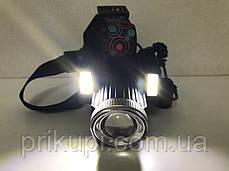 Налобний ліхтар з акумулятором або на батарейках 3*АА Police JR-6000-T6 2COB, фото 3