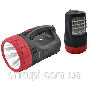 Фонарь переносной яркий YAJIA 2829-5W+25LED, аккумуляторый, фото 2