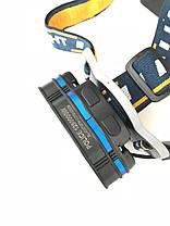 Ліхтар налобний потужний світлодіодний акумуляторний Police BL-KC07-3T6+2XPE+2COB USB, фото 3