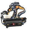 Фонарь налобный мощный аккумуляторный светодиодный Police BL-KC07-3T6+2XPE+2COB USB, фото 2