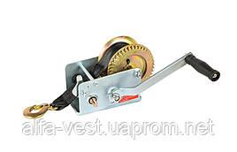 Лебедка барабанная тяговое усилие 907 кг, ремень 8 м MASTERTOOL 86-8290