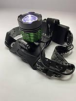 Налобный фонарь Police BL 2188B - T6, zoom, аккумуляторы 18650 х2, ЗУ 12-220В, фото 3