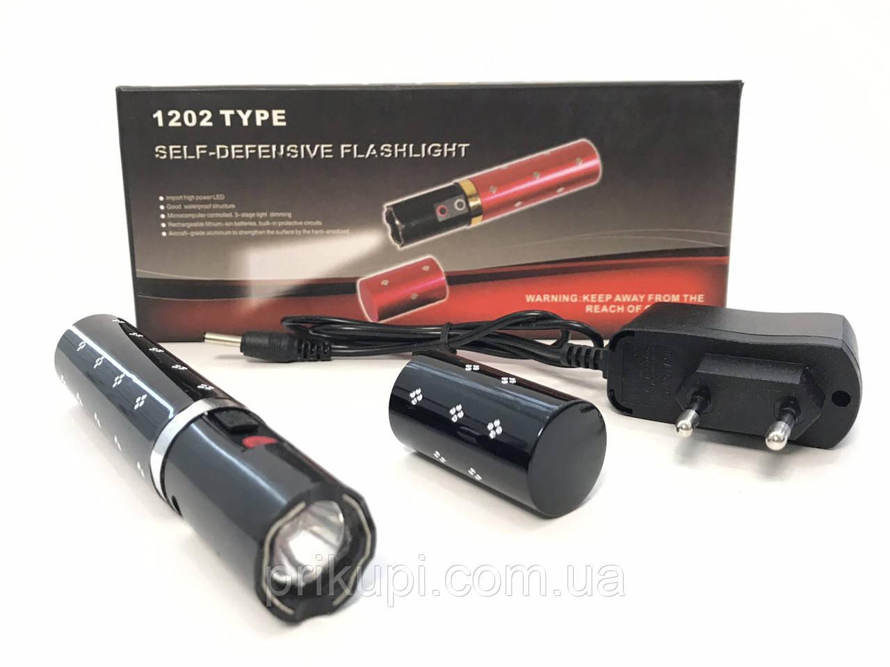 Ліхтарик шокер помада Police BL-1202 20000w ЗУ 220В