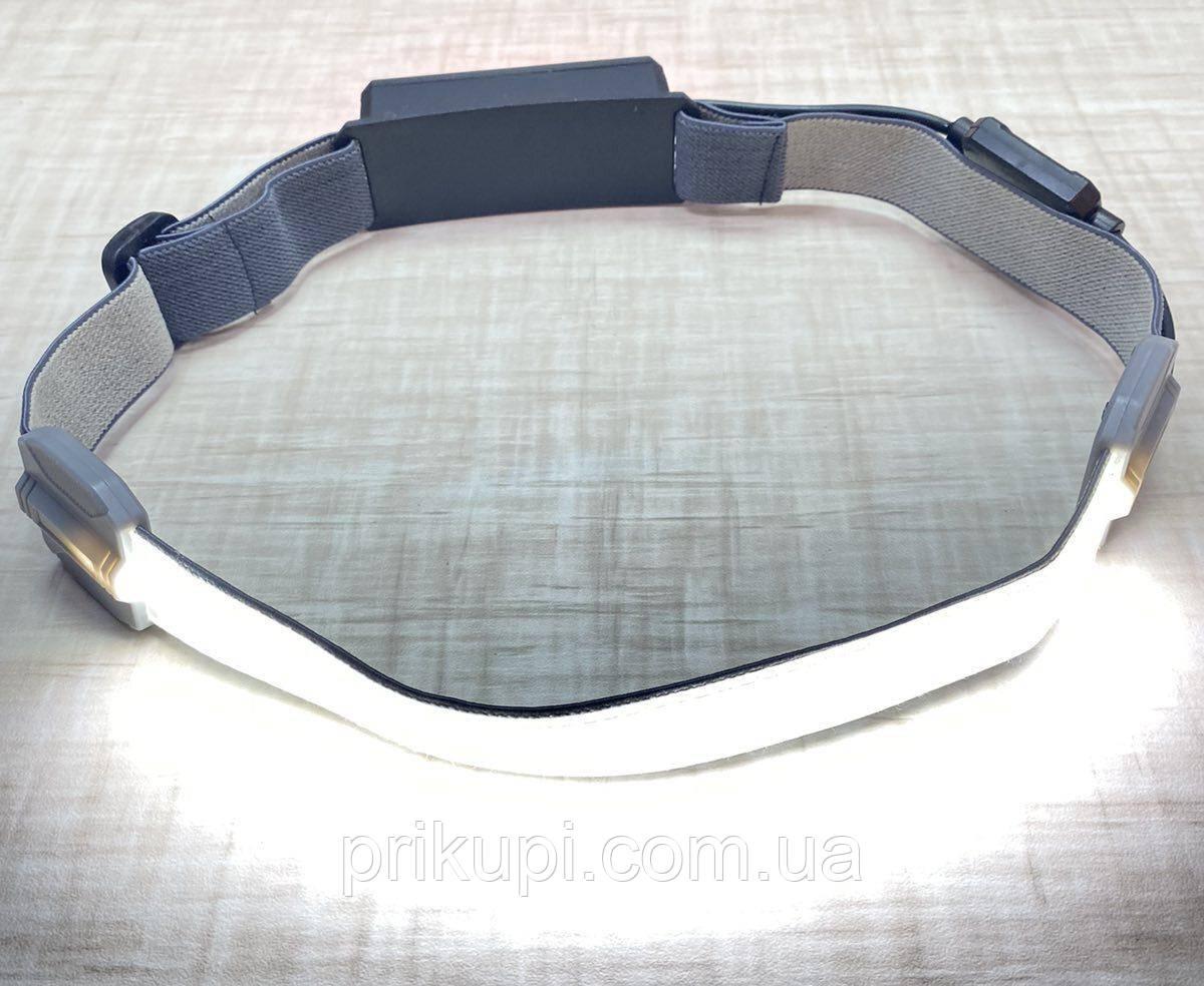 Фонарик легкий налобный Stripe Ultra bright YD-33 37SMD ЗУ micro USB, встроенный аккумулятор