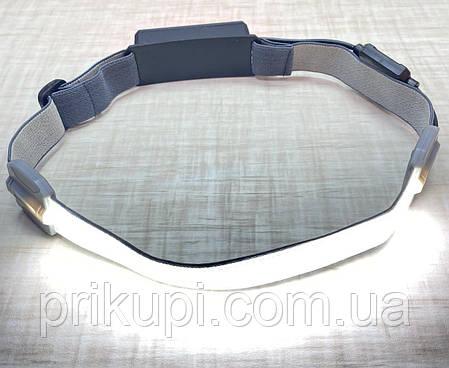 Ліхтарик легкий налобний Stripe Ultra bright YD-33 37SMD ЗУ micro USB, вбудований акумулятор, фото 2
