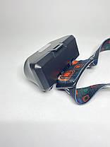 Маленький налобний ліхтар з акумулятором і USB зарядкою BL-1804A COB + XPE + Sensor, фото 2