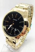 Часы мужские наручные CASIO(Касио), золото с черным циферблатом ( код: IBW677YB )
