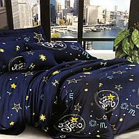 Бязевый комплект постельного белья двуспальный размер 180 см/ 210 см
