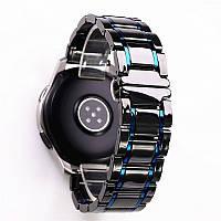 Браслет для часов керамический, глянцевый. 22 мм.