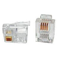 100X Коннектор Rj11 Rj12 Rj14 6P4C Телефонний