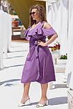Нарядное молодежное платье больших размеров Софт Размер 50 52 54 56 58 60 Разные цвета, фото 3