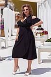 Нарядное молодежное платье больших размеров Софт Размер 50 52 54 56 58 60 Разные цвета, фото 2