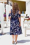 Нарядное молодежное платье больших размеров Софт Размер 50 52 54 56 58 60 Разные цвета, фото 6