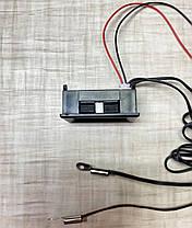 Цифровий термометр з двома виносними датчиками температури -20°C ~ 110°C 6 - 28 вольта Врізний (клеми), фото 3