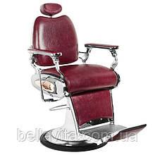 Парикмахерское мужское кресло Tiger бордовый