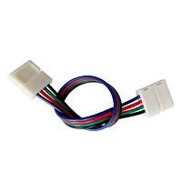 Конектор Двосторонній Для 10Мм Стрічки Led Smd 5050 Rgb, 2 Затиску