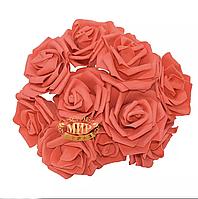 Розы из фоамирана Red, 1шт