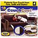Покривало на диван (170х135 см) двостороннє Couch Coat, Коричневий, накидка на меблі, фото 7
