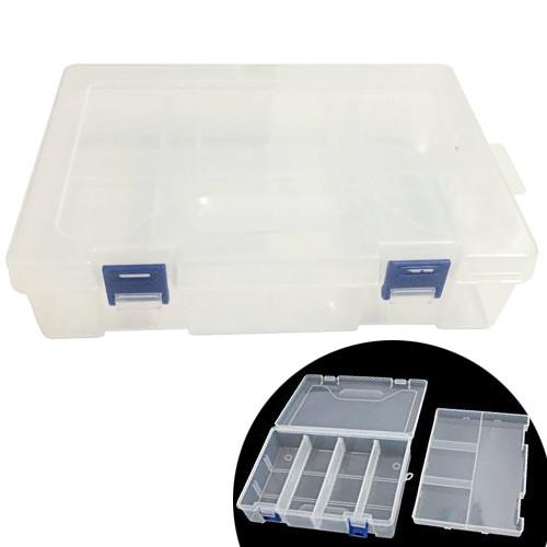 Коробка органайзер кейс бокс для радіодеталей Arduino, подвійний 22х15см