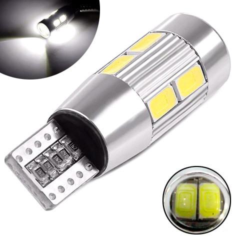 Led T10 W5W Лампа В Автомобиль, 10 Smd 5630, С Обманкой Canbus, Белый