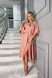 Сукня жіноча літній з розрізом довжини Міді