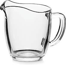 Молочник Pasabahce Basic 200мл d8,3см h9см стекло, Стеклянный кувшин для молока, стеклянный молочник с ручкой