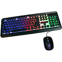 Светящаяся компьютерная клавиатура + геймерская игровая мышь с подсветкой HK3970 | мышка для компьютера (ST)