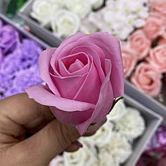 Роза из мыла розовая