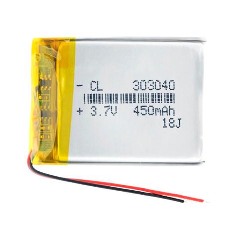 Акумулятор 303040 Li-Pol 3.7 В 500Мач Для Rc Моделей Dvr Gps Mp3 Mp4