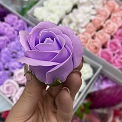 Роза из мыла лилова