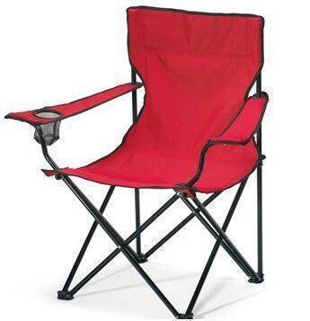Крісло для відпочинку на природі Павук Червоний, стілець розкладний туристичний | стул для кемпинга