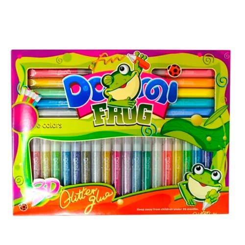 Набор Декоративного Клея С Блестками 28 Цветов 10.5Мл, Dorgi Frog