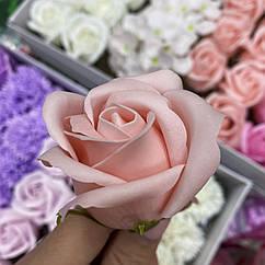 Роза из мыла  персиковая
