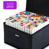 Качественные скетч маркеры Touch Smooth 120 шт. Профессиональные двусторонние спиртовые маркеры для скетчинга, фото 4