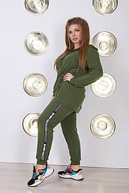Женский спортивный костюм хаки SKL11-279933